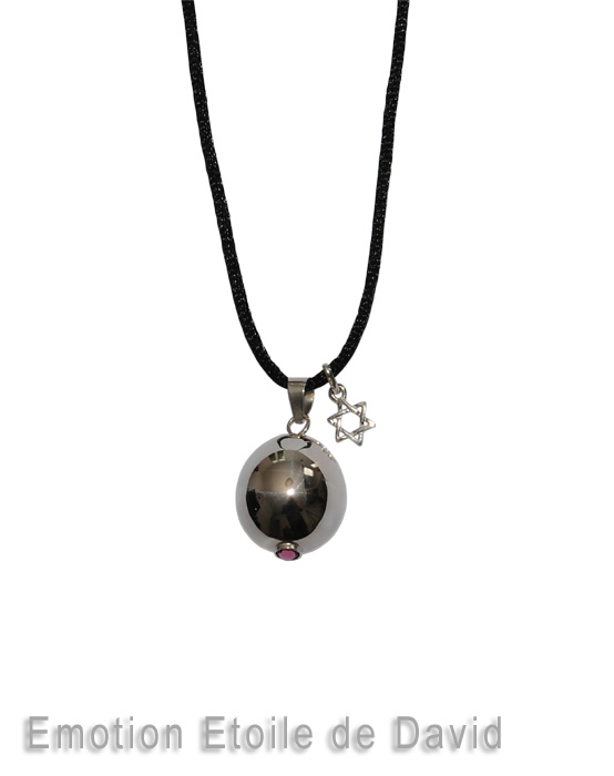 Harmony ball with star of david charm