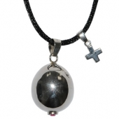 Harmony ball with catholic cross charm