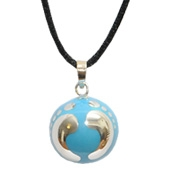 Blue Bulan silver and coloured harmony ball
