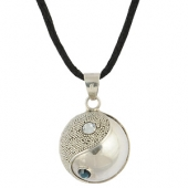 Equilibre silver and swarovski harmony ball